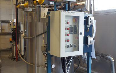 Cómo es el sistema de programación y de encendido del sistema en una caldera de vapor